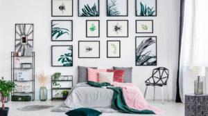 Como combinar quadros nas paredes