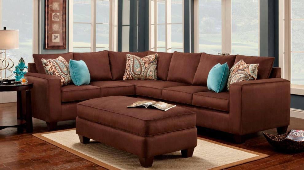 Almofadas para sofá marrom